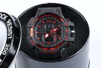 Wholesale Gift Boxes For Belts - 1pcs GA1100 relogio men's sports watches, LED chronograph wristwatch, military watch, digital watch, good gift for men & boy with box