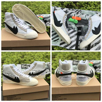 Wholesale Lace White Blazer - 2017 New Style Off-White x Blazer Mid Running Shoes For Men, Top Quality Limited Outdoor Casual Shoes Athletic Sport Sneakers Eur 40-46