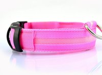led dog collar venda por atacado-Nylon LED Pet Dog Collar, Segurança noturna piscando Glow in The Dark Dog Leash, Cães Luminous Fluorescent Collars Pet Supplies