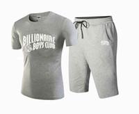 Wholesale Top Branded Men Suits - 2017 NEW Mens Golden print top hiphop set drake bbc t-shirt +pants 100% Cotton suit print Brand clothing,