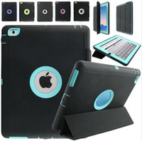 Full Body Protective Shockproof Heavy Duty Impact Hybrid Slicone TPU Housse rigide Smart Case pour iPad 2 3 4 6 7 Pro 9.7 Mini Mini4