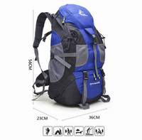 Wholesale Cheap Plain Cotton Fabric - Big Capacity 50L Outdoors Shoulder Bags Comping Backpack Oxford Waterproof Free Shipping Hiking Rucksacks Trekking Cheap backpack 0396