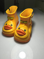 Wholesale Rain Duck - Mini Melissa Jelly shoes New children's rain boots boys and girls anti-skid boots children cute ducks modeling rainboots students shoes