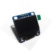защитный экран оптовых-Светодиодный дисплей модуль связи 0.96-дюймовый ЖК-экран Arduino интерфейс совместимый Великобритания Белый цифровой щит провод часы поверхностного монтажа P10 точка