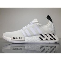 Wholesale Wholesale Flat Shoes For Women - 2017 Originals OFF White X NMD Real Boost BA7546 Running Shoes for Men NMDS Sneakers Women White with Original Box