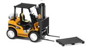 Wholesale Forklift Truck Toys - Forklift truck plastic forks warehouse version van with sound and light alloy body send pallet toys for children