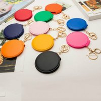 Wholesale Compact Girls - Girl mini pocket makeup mirror cosmetic compact mirrors portable double Dual sides PU Leather pocket frame cosmetic makeup