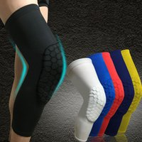 Wholesale Basketball Knee Pads Adult Kneecap Football Knee Brace Support Leg Sleeve Knee Protector Calf Compression HX002