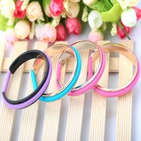 Wholesale Titanium Rope Bracelet Black - Rubber band Titanium bracelets fashion hair tie bracelet vintage open Titanium steel cute bangles for women
