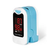 monitor de oxígeno del oxímetro de pulso al por mayor-2017 Popular oxímetro de pulso para dedo, SPO2, monitor de PR, oxígeno en la sangre, CMS50M, CONTEC el más nuevo OxImetro de pulso con bolsa de transporte