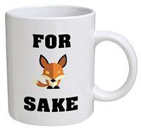 keramischer fuchs großhandel-Oh für Fox Sakes White Kaffeetassen Familie Firends Geschenke Reise Tee Milch Wasser Kaffee Keramik Tassen
