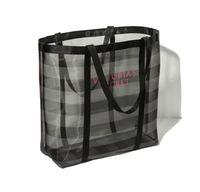 Wholesale Vegetables Toys - Half Transparent Women Handbags Large Capacity Travel Duffle Striped Waterproof Beach Bag Shoulder Bag Mesh Bag Toys Cosmetics Organizer