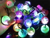 Wholesale Monkey Plastic Toys - LED Hand Spinner Flash Light Begleri Thumb Chucks Control Roll Games Monkey Knuckles Finger Yoyo Decompression Toys 300pcs