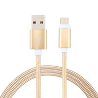 Wholesale android lights - TYPE C Micro USB Cable 3Ft Nylon Lighting Braided 2.0A Metal USB Data Sync Quick Charger for Android Samsung Note 8