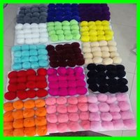 Wholesale Real Rabbit Fur Balls Pom Poms Cute Round Plush Pompons Balls for Girls Lovely Handbag Keyrings Fashion Accossory