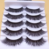 Wholesale Big False Eye Lashes - Makeup Thick False Eyelashes Eyelash Cross Naturally Slim False Eyelashes Sexy Thick Stage Makeup Smoked Big Eyes Fake Eyelashes
