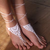 Wholesale Crochet Steampunk - Crochet Barefoot sandals Belize Spirit shoes, Foot hippie jewelry, Victorian Lace, Sexy Yoga Anklet, Steampunk, Feet thongs, Boho accessorie