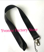 Hot! Lots of 50 pcs Solid Black Blank Key Lanyard pour personnalisé Impression Badge titulaires Taille 48 * 2.5cm