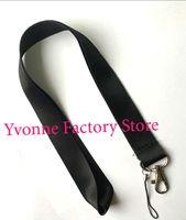 maßgeschneiderte schlüsselhalter großhandel-Hot! Viele 50 stücke Solid Black Blank Key Lanyard für Kundenspezifische Druck ID Badge Holder Größe 48 * 2,5 cm