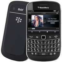 Wholesale blackberry touch screen cell phone - Refurbished Blackberry Bold Touch 9900 3G WCDMA Cell Phone With 2.8Inch Screen Qwertykeyboard 8G ROM 5.0MP Camera 1230MAH Battery