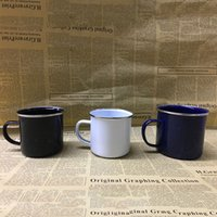 Wholesale High Tea Ceramic - Cute Mug Retro Creative enamel cup High Quality Ceramic mug creative simple gifts Coffee Cup Tea Cup