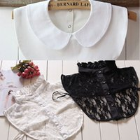 Wholesale Wholesale Fake Collar - Wholesale- Fashion Women Girl Lace Detachable Lapel Shirt Top Fake False Collar Choker Necklace