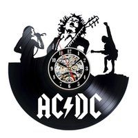 Wholesale Ac Dc Vinyl Record Wall Clock Vintage Collection Gift