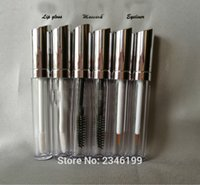Wholesale High Quality Lip Gloss Tubes - 50pcs lot 5ML High Quality Silver Mascara Bottle, Empty Eyelash Growth Liquid Bottle, Liquid Eyeliner Tube, Cosmetic Container Lip gloss