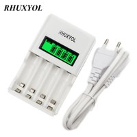 Wholesale Quick Battery Charger Aa - RHUXYOL Super quick Fast Battery Charger Intelligent LCD Display for AA AAA Ni-Mh NiMh NiCd Rechargeable cell Bateria cargador