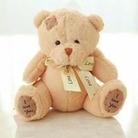 """Wholesale Soft Baby Teddy - 1pcs lot 8"""" 20cm Patch bear dolls teddy bear plush toy bear wedding dolls baby toy Birthday gift brinquedos Soft toys"""