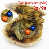 Cheap Akoya Oyster y Twins Pearl 6-7mm AAAA Ronda abierta Oyster Pearl Surprise DIY Pearl Jewelry