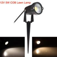 lâmpada led de 12v de pino venda por atacado-Atacado-12V 5W LED COB lâmpadas de gramado IP65 impermeável LED Flood Spot Light Bulb Para Garden Pond Path Iluminação exterior com Insert Needle Pin