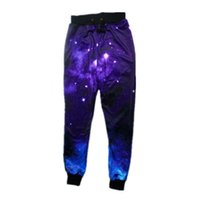Wholesale Galaxy Harem Pant - Wholesale-New Sweat Pants Harajuku Loose Skinny Galaxy Joggers 3D Graphic Space Jogger Pants Harem Sweat Pants