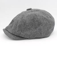 Wholesale beret hats males for sale - Group buy David Beckham Same Design Male Beret Fashion Gorras Planas Solid Boina Wool Beret For Men Hats Casual Octagonal Cap HT51095