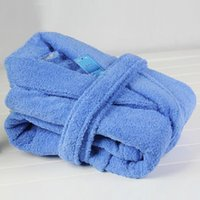 Wholesale Terry Bathrobes Free Shipping - Wholesale- Free shipping Hilift thickening 100% cotton robe quality terry bathrobe toweled bathrobe
