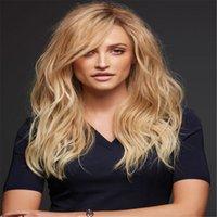 полный парик шнурка 27 цвет оптовых-блондинка может подгонять волосы большой волны Glueless бразильские человеческие волосы 100% полный парик шнурка yaki парик шнурка прямой полный девственница с цветом 27 младенца#