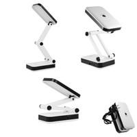 katlanabilir masa lambası toptan satış-Taşınabilir Göz Koruması LED Masa Lambası, Okuma Lambası, Katlanabilir Şarj Edilebilir, 2 Parlaklık Ayarları 24 led beyaz