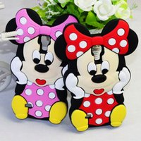 Wholesale Case 3d S3 Mini - 3D Cartoon Minnie Mouse Silicone Phone Cases For Samsung Galaxy S3 S4 S5 mini S6 S7 edge A3 A5 A7 J1 Ace J3 J5 J7 2016 2017 Cute Back Cover
