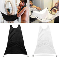 Wholesale Floral Hair Styles - 2017 Man Bathroom Beard Care Trimmer Hair Shave Apron Gown Robe Sink Styles Tool Bathroom Apron Waterproof Floral Bib Cloth