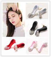 Wholesale Asymmetric Heels - 10 Styles New Fashion Fox & High Heels Shoe & Owl Cute Earrings For Women Gold Plated Asymmetric Stud Earrings Wholesale Price boucle