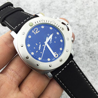 Wholesale Pam Hand - PAM Top Brand Luxury Watch Men Fashion Wristwatches Automatic Mechanical Hand-Winding Watch Mens Natural Leather Watches Sports Diving watch