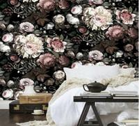 Wholesale Garden Wall Mural Wallpaper - Custom European retro garden flowers papel de parede 3D wall mural wallpaper murals for living room wall paper mural