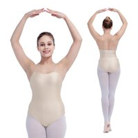 Wholesale Dance Performance Leotard Costume - Ballet Dance Nylon Lycra Underwear Camisole Leotards Performance for Girls and Ladies Practice Costume Dancewear Full Sizes Available