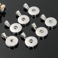 halsketten-endhaken groihandel-18mm Noosa Druckknopf-Silber-Legierungs-Anhänger für Halskette und Armbänder DIY Schmucksache-Zusatz Austauschbarer Ingwer-Verschluss