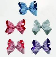 oversized christmas ornaments - JOJO New Head clip laser fabric hairpin inch oversized bowknot clip new fashion Christmas hair ornaments L205