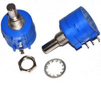 Wholesale Resistor Ohm Metal - Wholesale- 10pcs Lot 3590S-2-203L 3590S 20K ohm Precision Multiturn Potentiometer 10 Ring Adjustable Resistor
