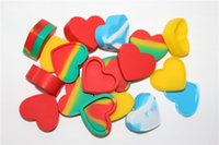 Wholesale Rubber Oil Seals - 18ml A Good Seal Silicone Rubber Jars Container Heart Shape Oil Jars For Sale