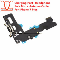 Wholesale Iphone Audio Docking - Charging Port Flex Cable For iPhone 7 Plus Charger Data USB Dock Connector with Headphone Audio Jack Mic Antenna Antena Wifi Cable