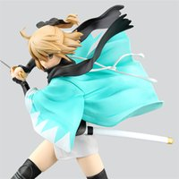Wholesale Fate Saber Figure - 20151049 Free Shipping Wholesale Fate Stay Night 25cm Saber Okita Souji PVC Action Figure Model Toys