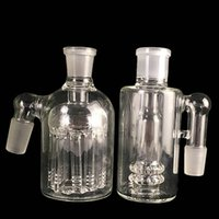 Wholesale Free Oil Filter - Glass Thick Ashcatcher ash catcher for bong 18mm 14mm Male bongs 11 arms 4mm 5mm heavy tree smoking accessories bubbler dab oil rigs filter